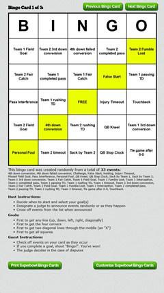 Bingo Maker bingo calling card