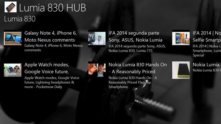 Lumia 830 HUB lumia