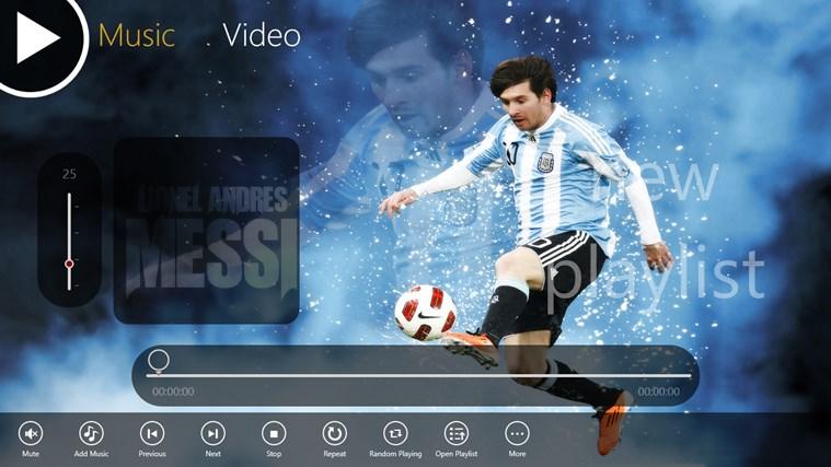 Messi Media Player divx media