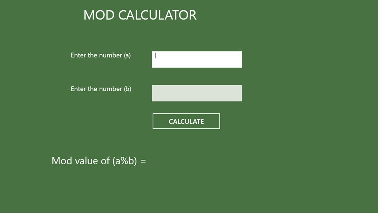 Mod Calculator-aps
