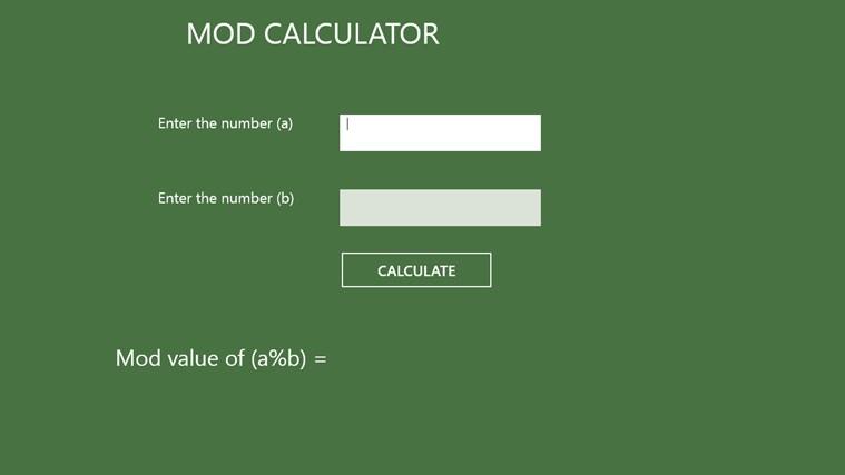 Mod Calculator-aps