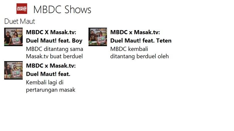 MBDC Show