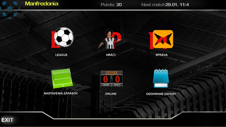 SuperShoot Football Management Game