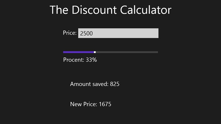 The Discount Calculator