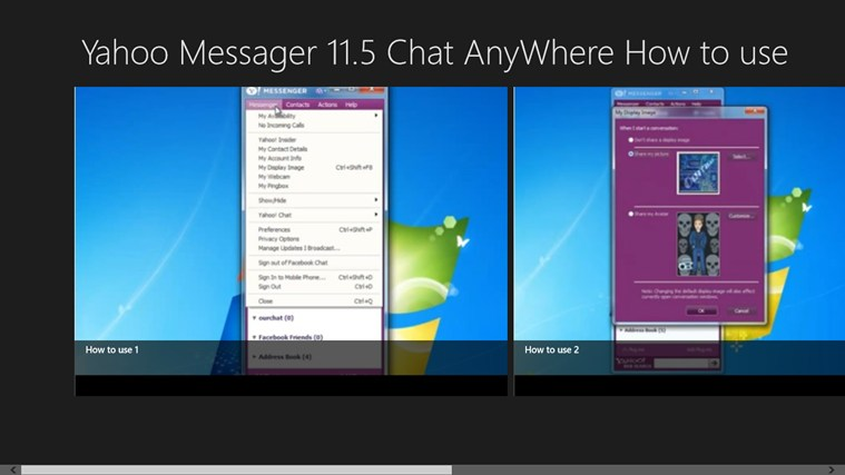 Yahoo! Messenger 11.5 Chat AnyWhere How to use messenger