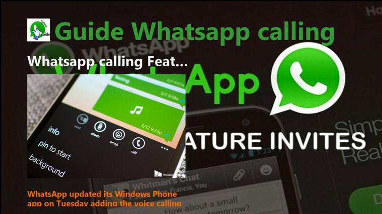 Guide Whatsapp calling on wp bingo calling card