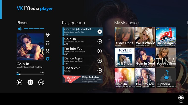 VK Media Player media playing