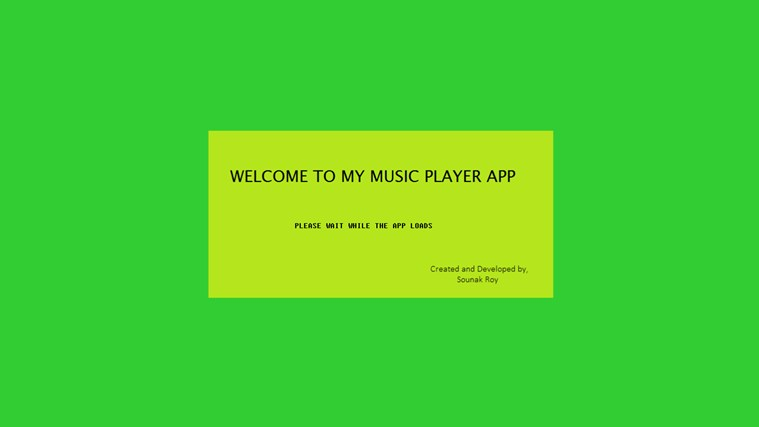 A Simple Music Player player simple