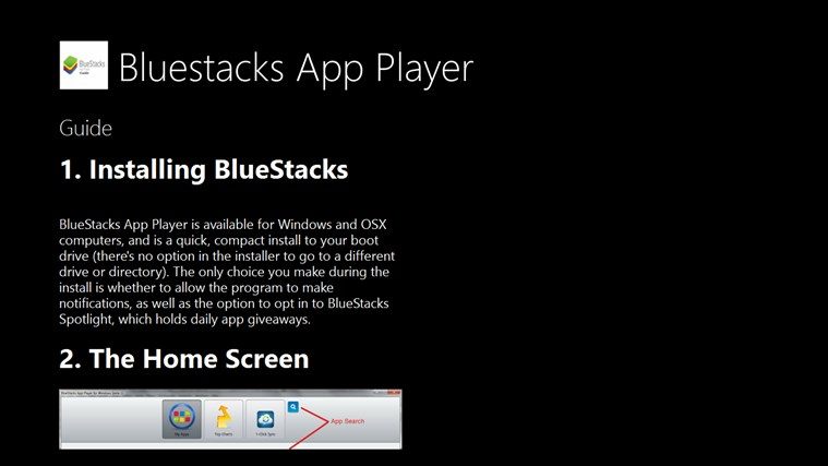 Guide for Bluestacks App Player PC
