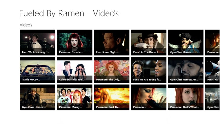Fueled By Ramen - Youtube Video's video youtube