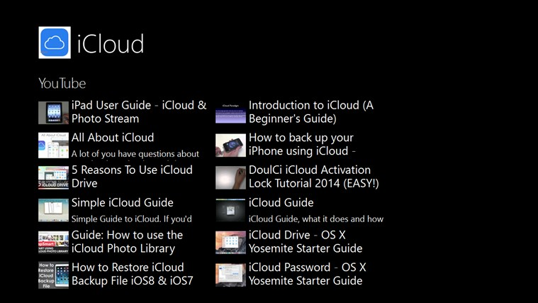Guide iCloud.