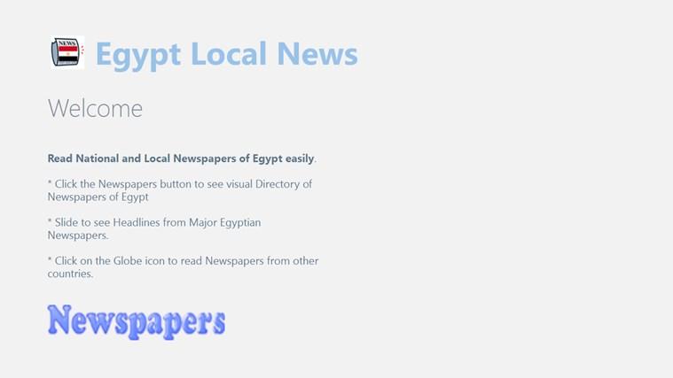 Egypt Local News newspapers