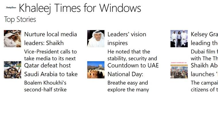 Khaleej Times for WIndows