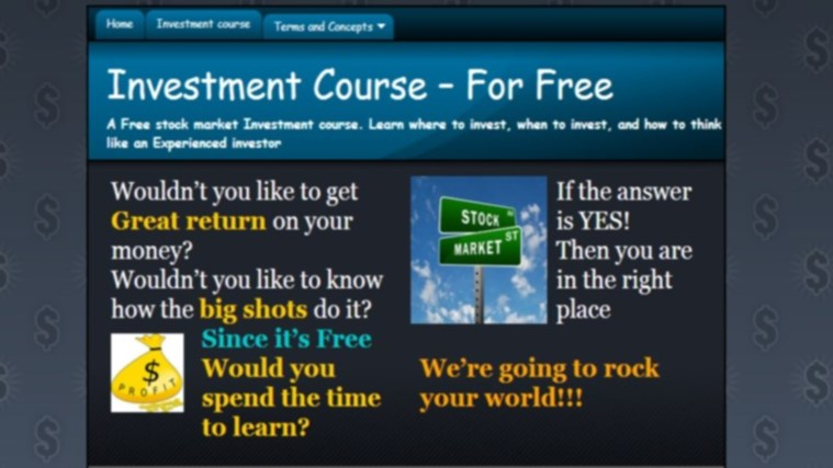 Stocks Investment course