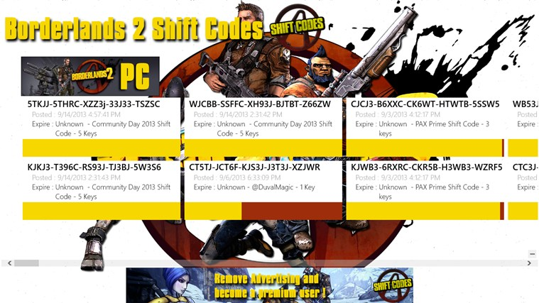 Madison : Borderlands 2 gearbox community day shift codes