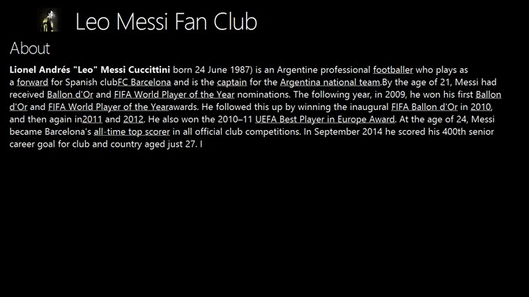 Leo Messi Fan Club