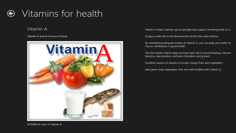uses of vitamins and minerals