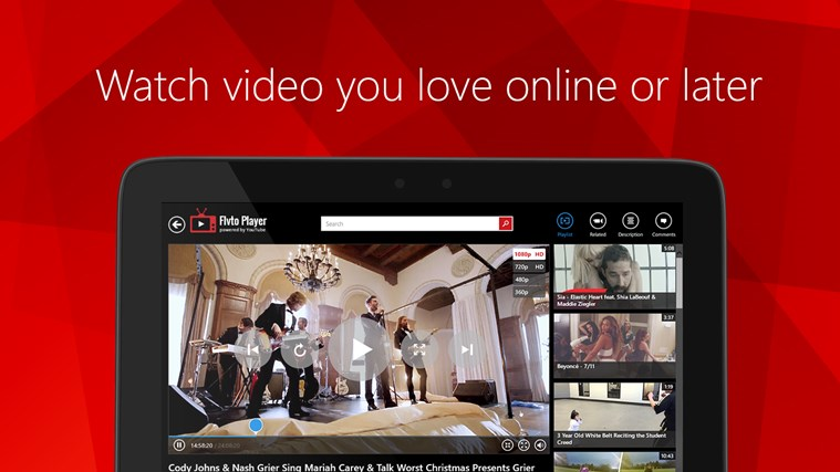 Flvto Media Player HD for YouTube