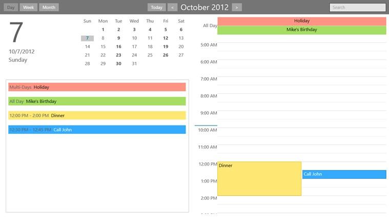 WinPIM Calendar persian winpim