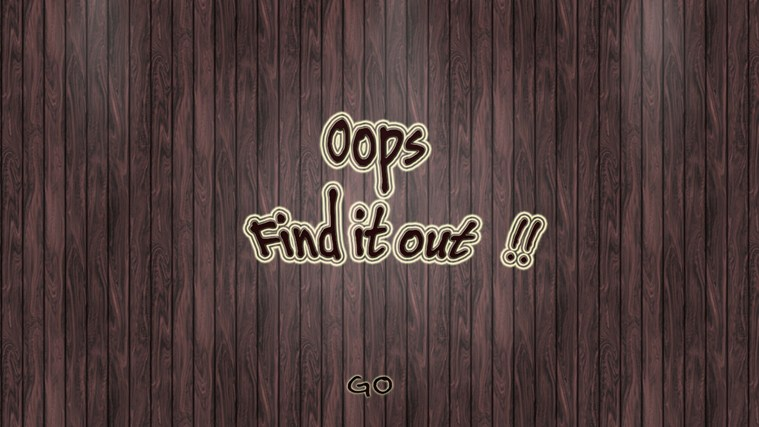 Oops!! Find it out!!