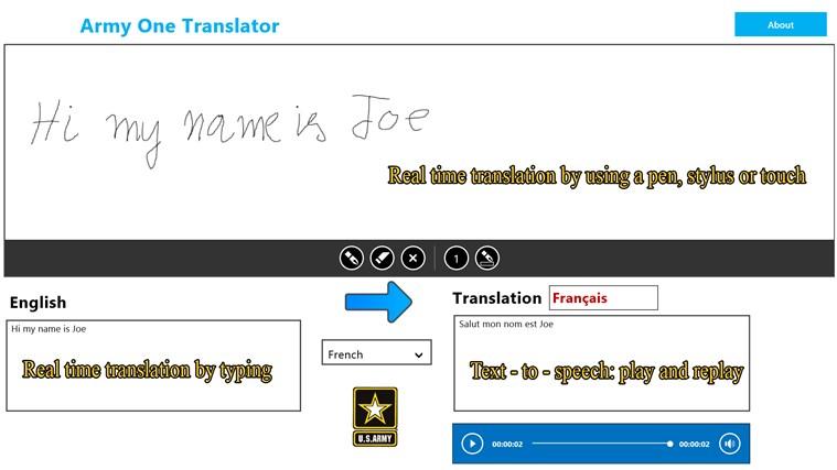 Army One Translator