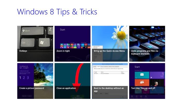 Win 8 Tips & Tricks tips tricks