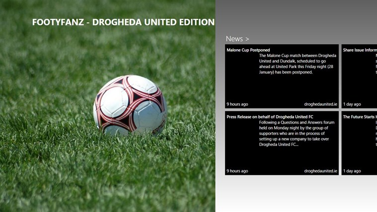 FootyFanz - Drogheda United edition