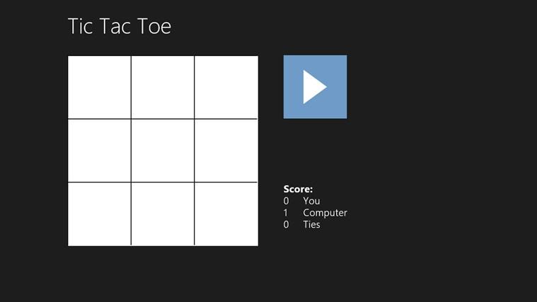 Simple Tic Tac Toe simple