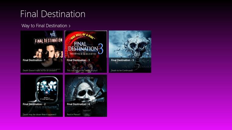 Final Destination destination