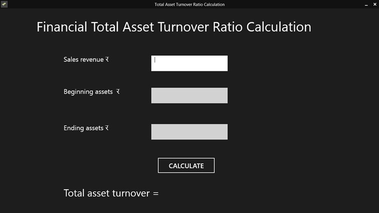 Total Asset Turnover Ratio Processor