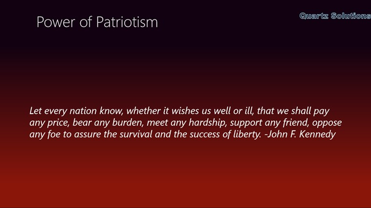 essays about what patriotism means to me