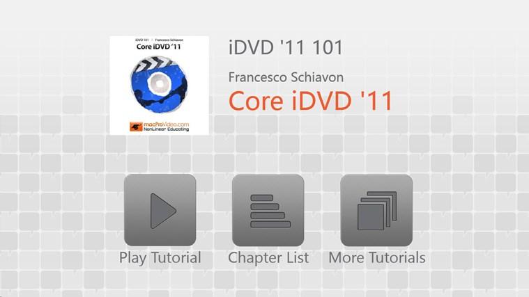 iDVD '11 101 - Core iDVD '11 dvd