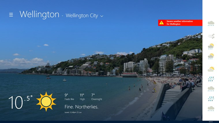 MetService Towns & Cities