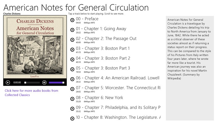 American Notes for General Circulation - Charles Dickens american player