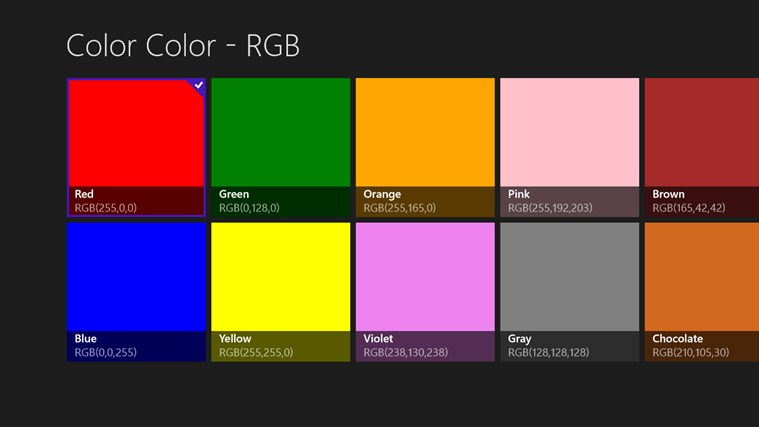 Color Color - RGB mechanical color code