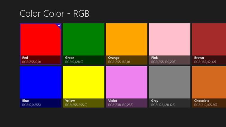 Color Color - RGB mechanical color code
