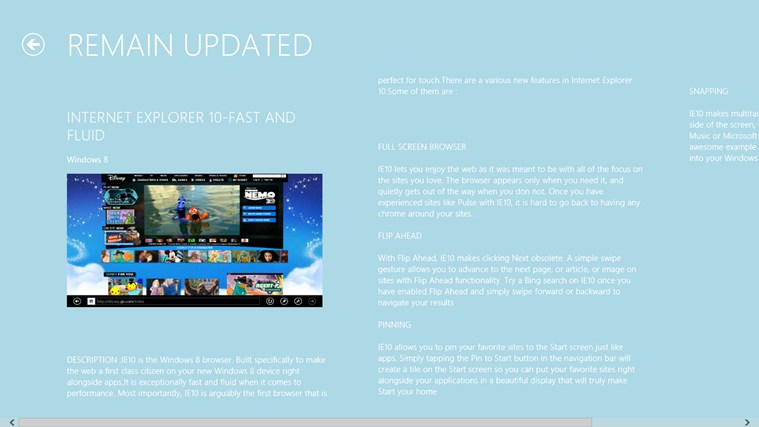 Screenshots WIndows 8 User Guide