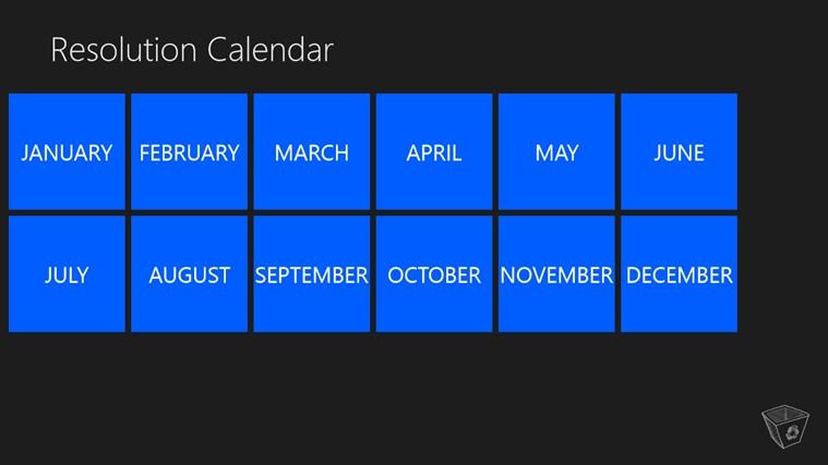 Resolution Calendar resolution