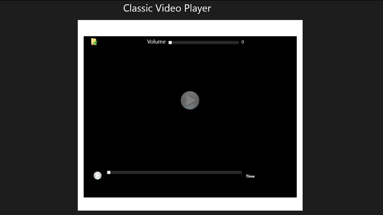 CLASSIC VIDEO PLAYER classic player