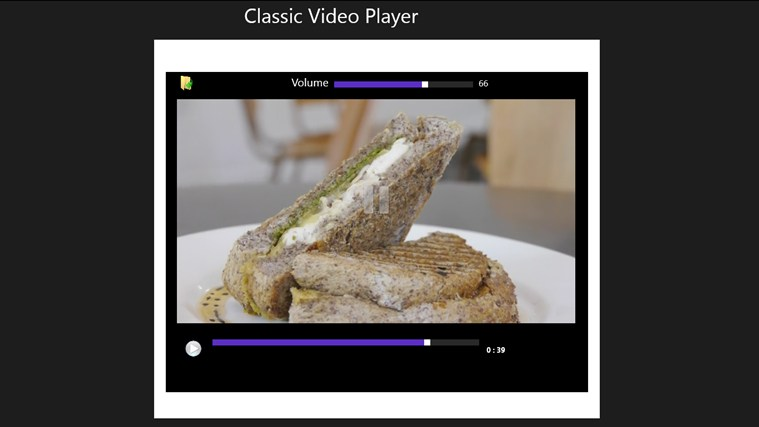 classic video player