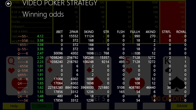 video poker strategy app