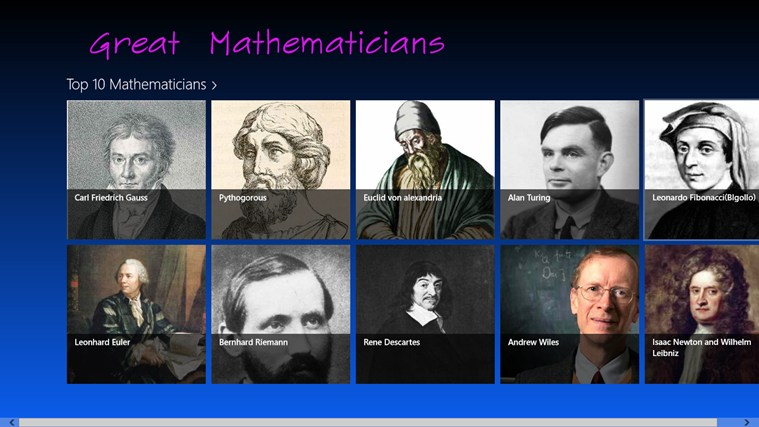 eight great mathematician Ian stewart's top 10 popular mathematics books  biographies of great mathematicians tell us what it's like to work at the frontiers of human knowledge the great problems, the ones that hit the.