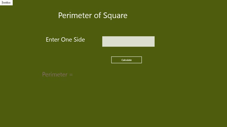 Perimeter of Square - Aps