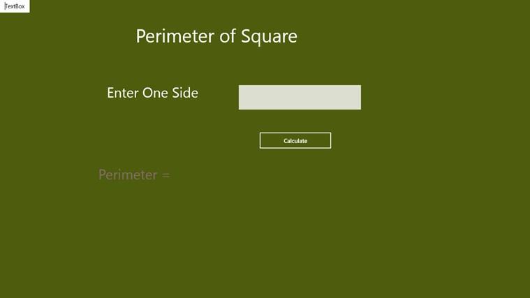 Perimeter of Square - Aps