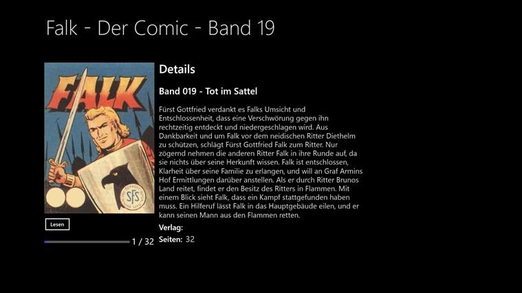 Ritter Falk - der Comic - Band 019 - Tot im Sattel