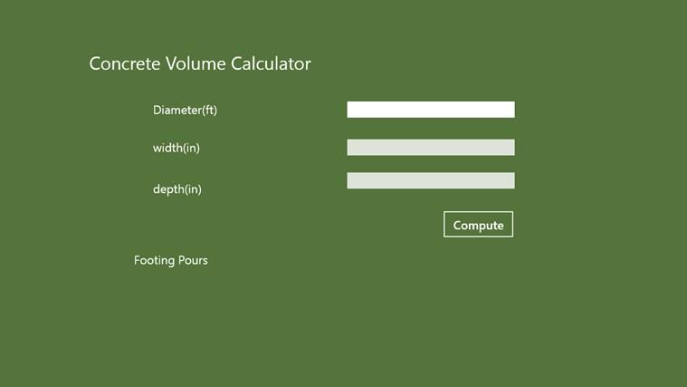 Concete-volume app