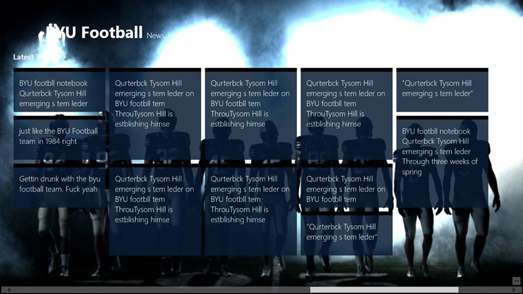 BYU Football football marcus