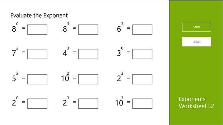 Worksheet Exponents Further Worksheet Exponents Further Worksheet ...