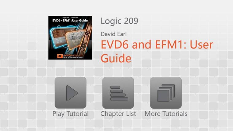 Logic 209 - EVD6 and EFM1: User Guide david beckham fanity