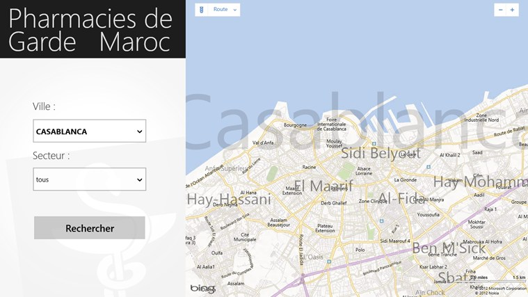 Pharmacies de Garde Maroc Windows app | AppColt